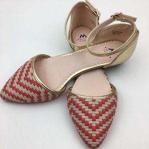 Madison by Shoedazzle cleantha orange flat shoes
